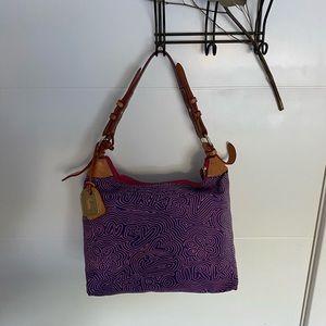 purple dooney & bourke purse